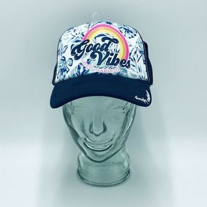 Simply Southern Good Vibes Trucker Hat Mesh